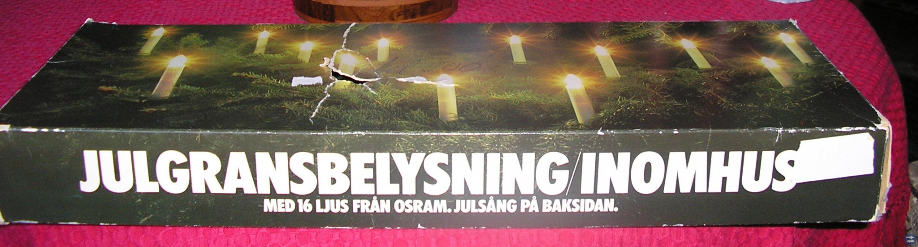 Julgransfot och belysning