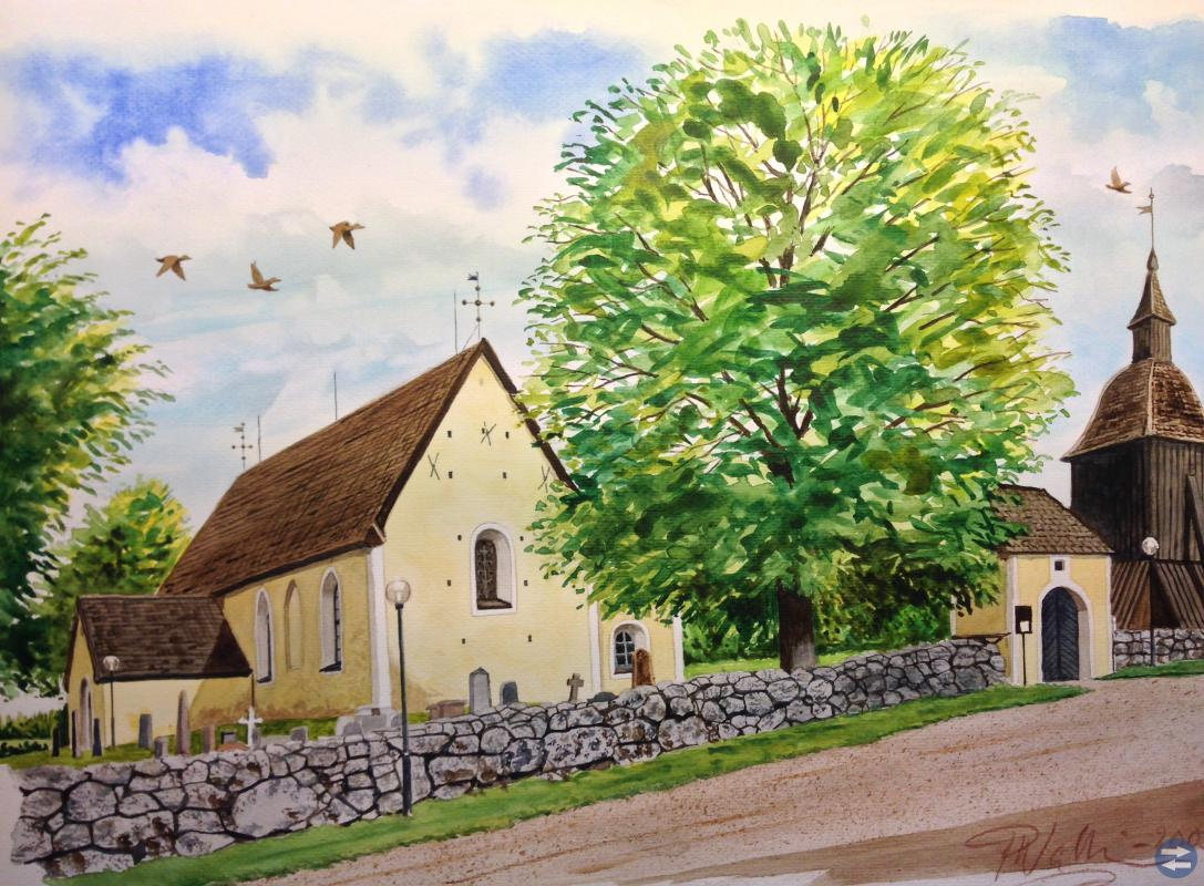 Akvareller av konstnären Peter Wallin