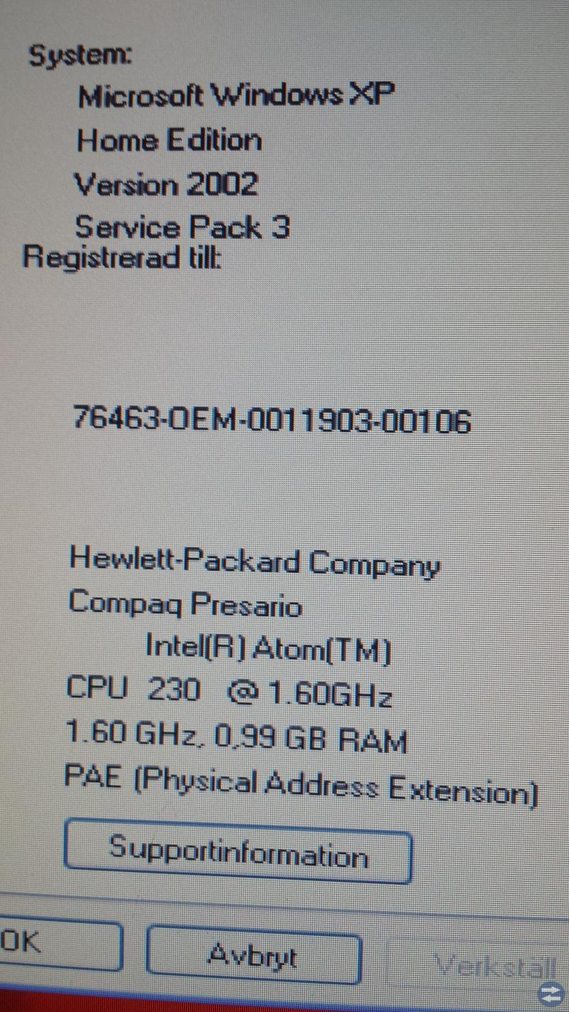 HP Compaq dator (trådlös internet)