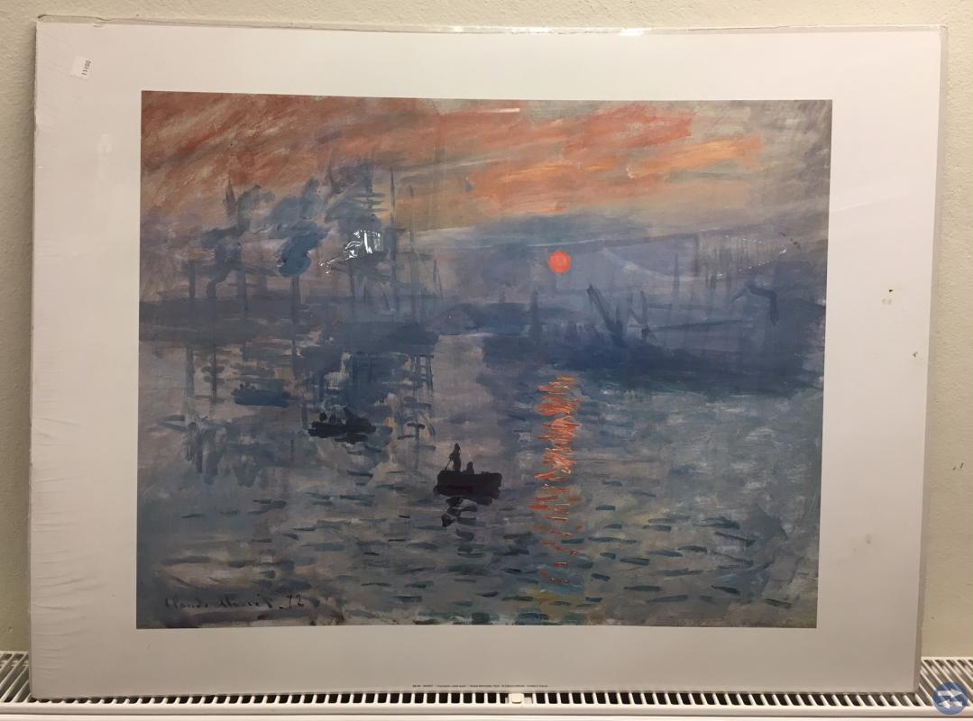 Tryckt Impression, Sunrise gjord av Claude Monet