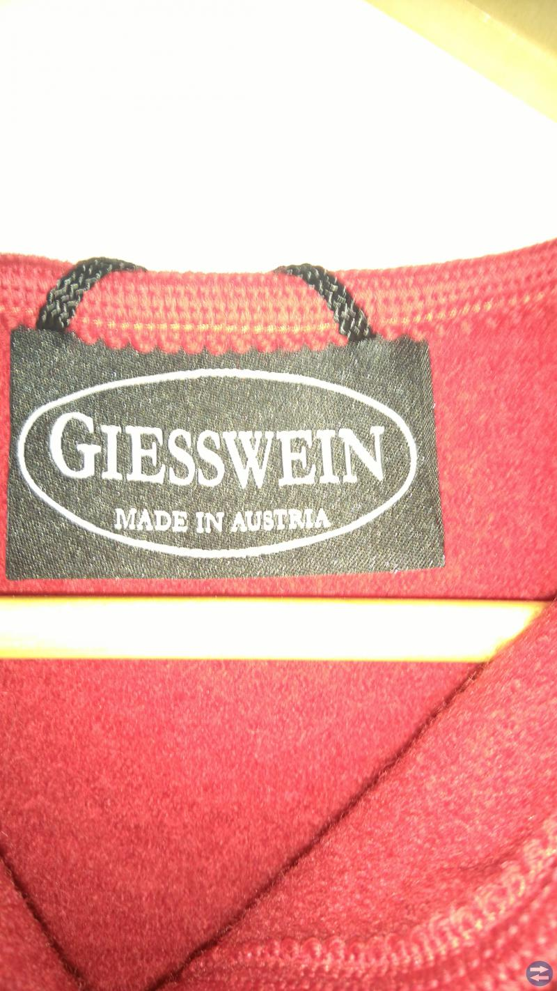 Röd Geisswein valkad jacka