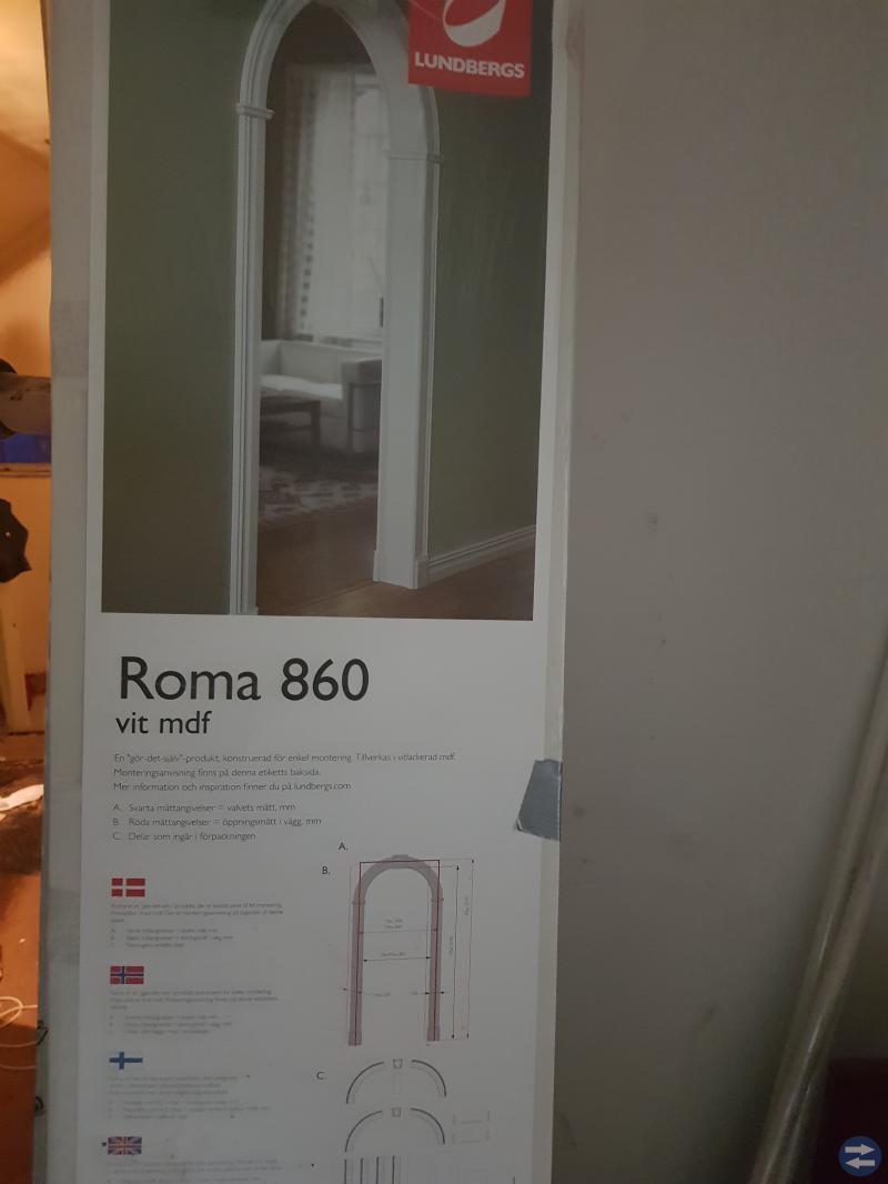 Dörr valv Roma - vit
