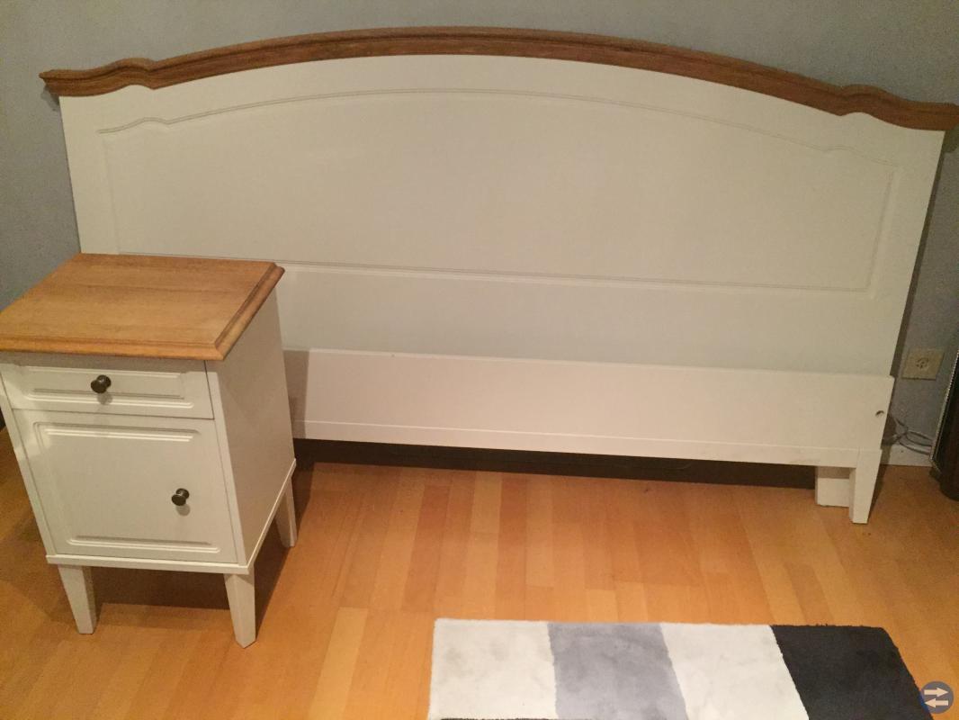 Sänggavel, 2 sängbord, madrasser 90 200, Billigt Värnamotorget se Värnamos bästa och största