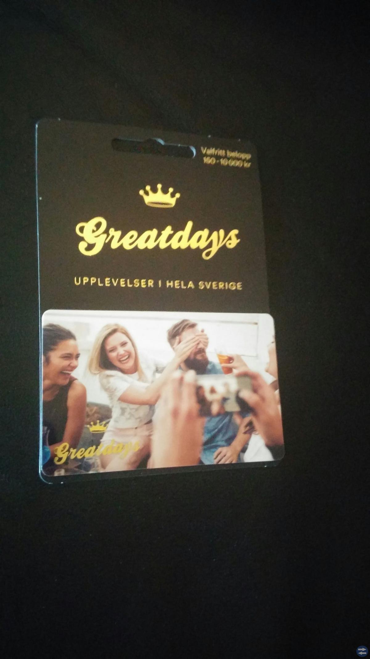 Ultimata presentkortet Greatdays