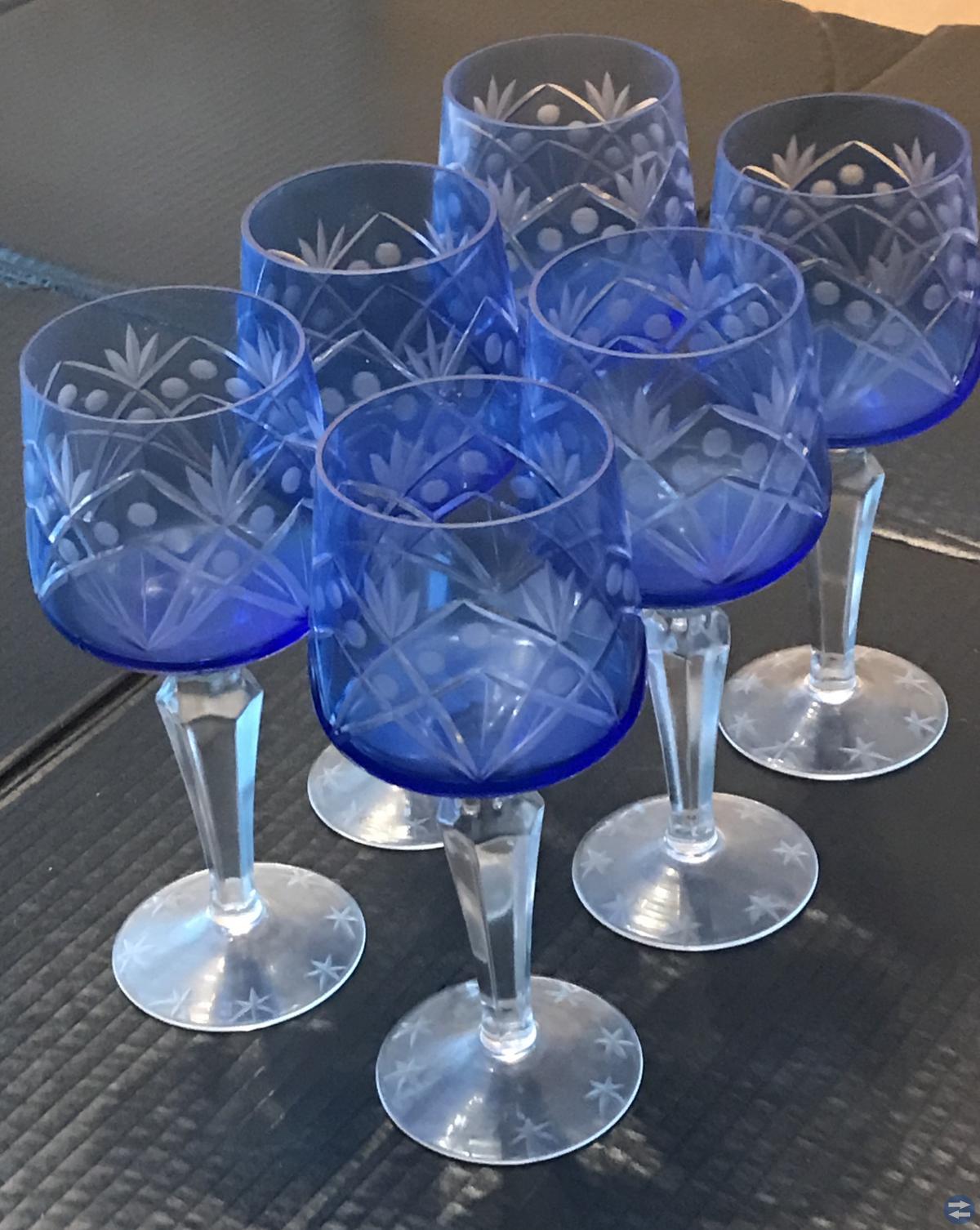 Glas blå kristall