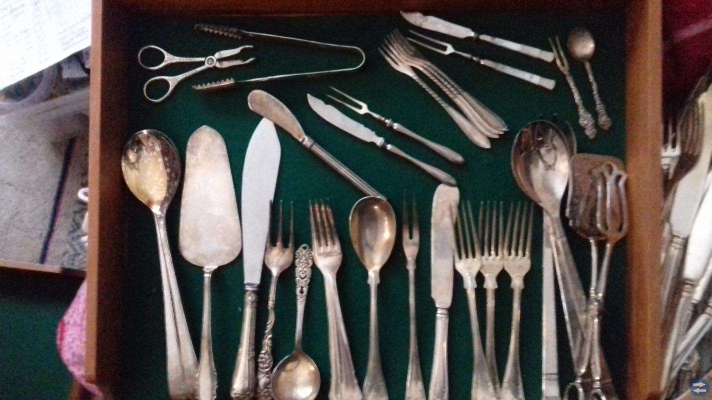 Silver mycket  bestik  mm