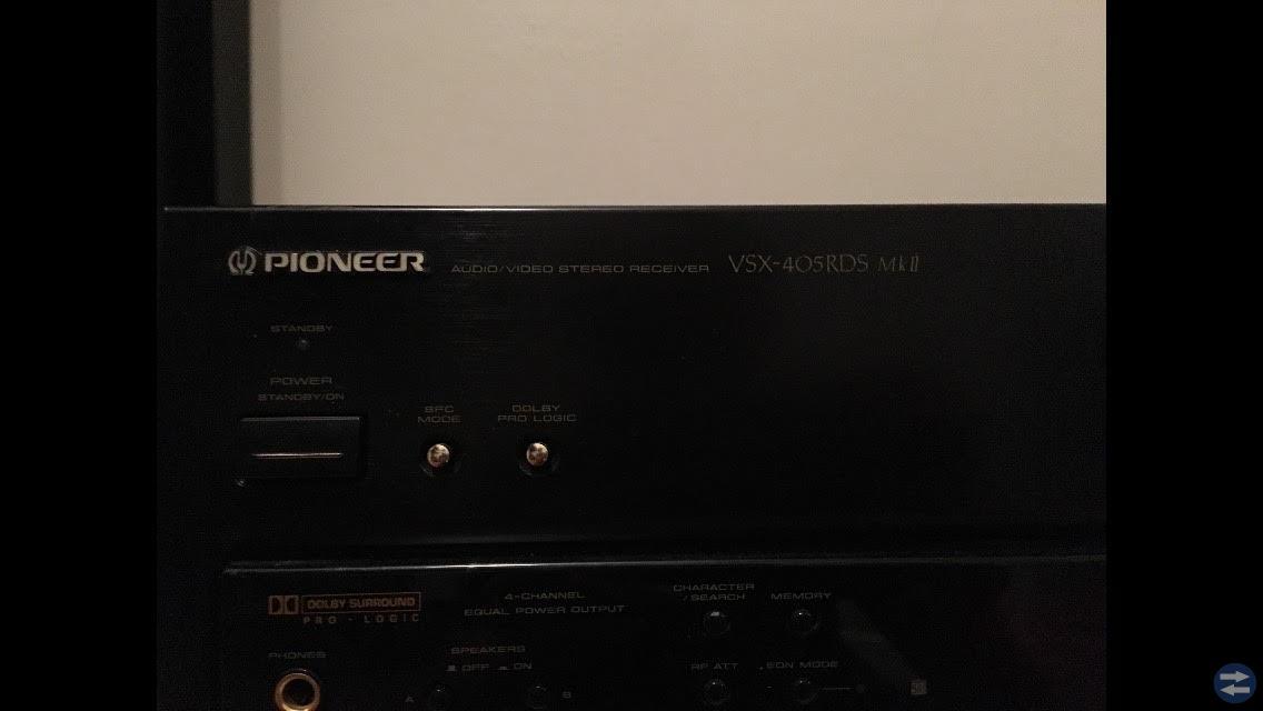 Fin hemmabio förstärkare (pioneer vsx-405rds mkII