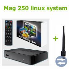 IPTV box Mag 250 med Wifiadapter