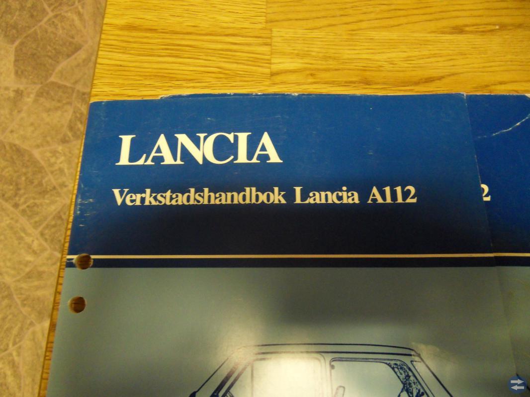 Lancia A112 verkstadshandbok