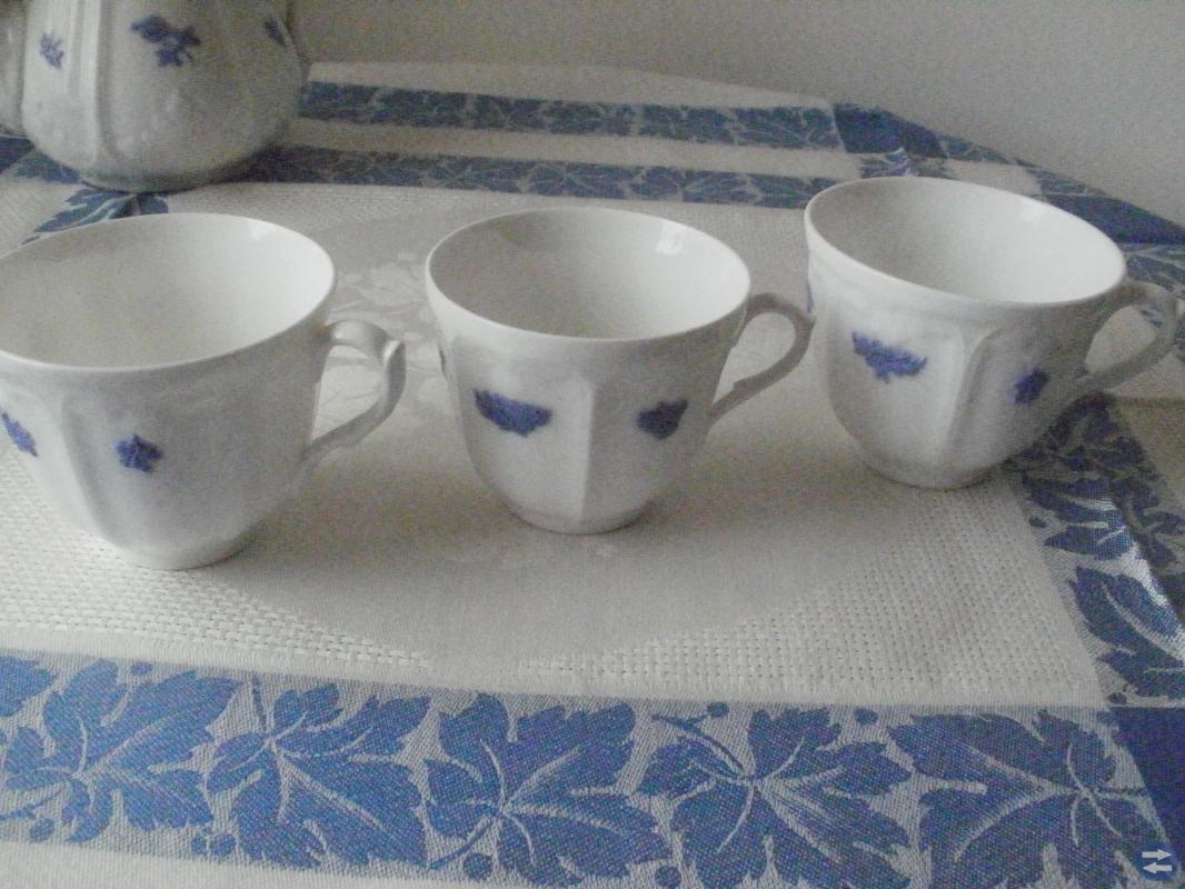 Blå Blom kaffe och tekoppar