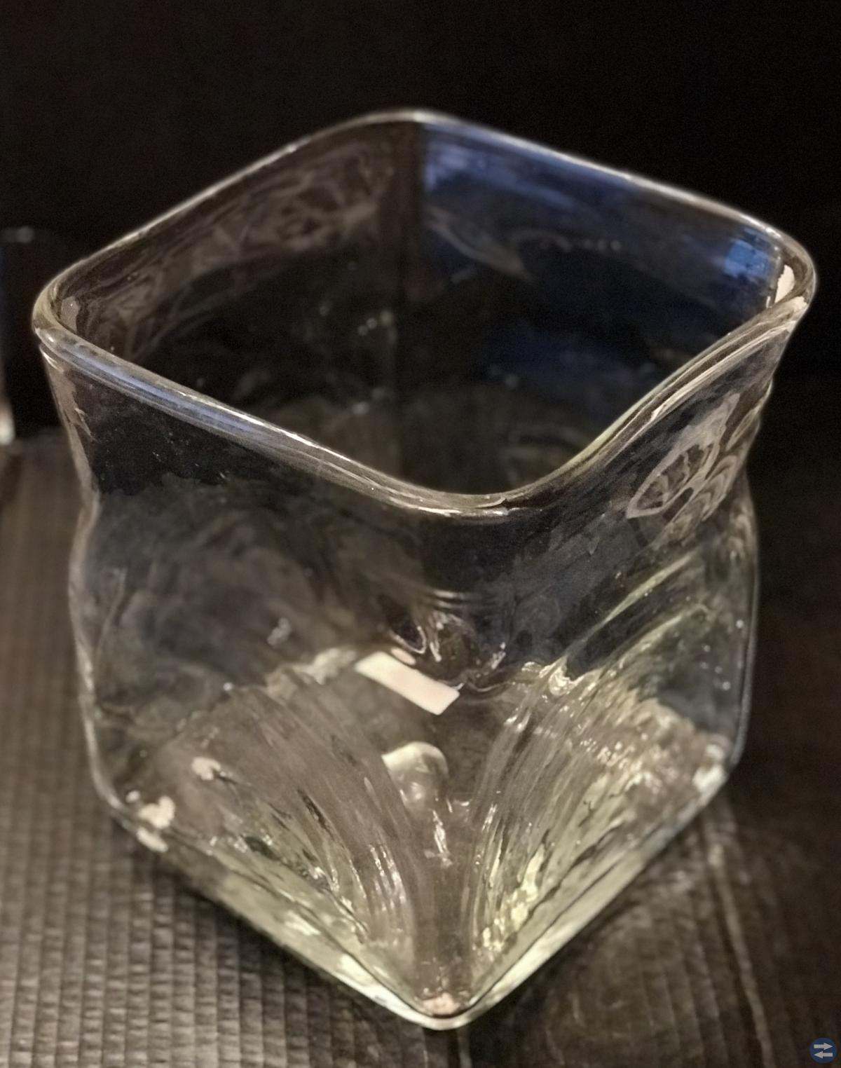 Stor glas vas/skål