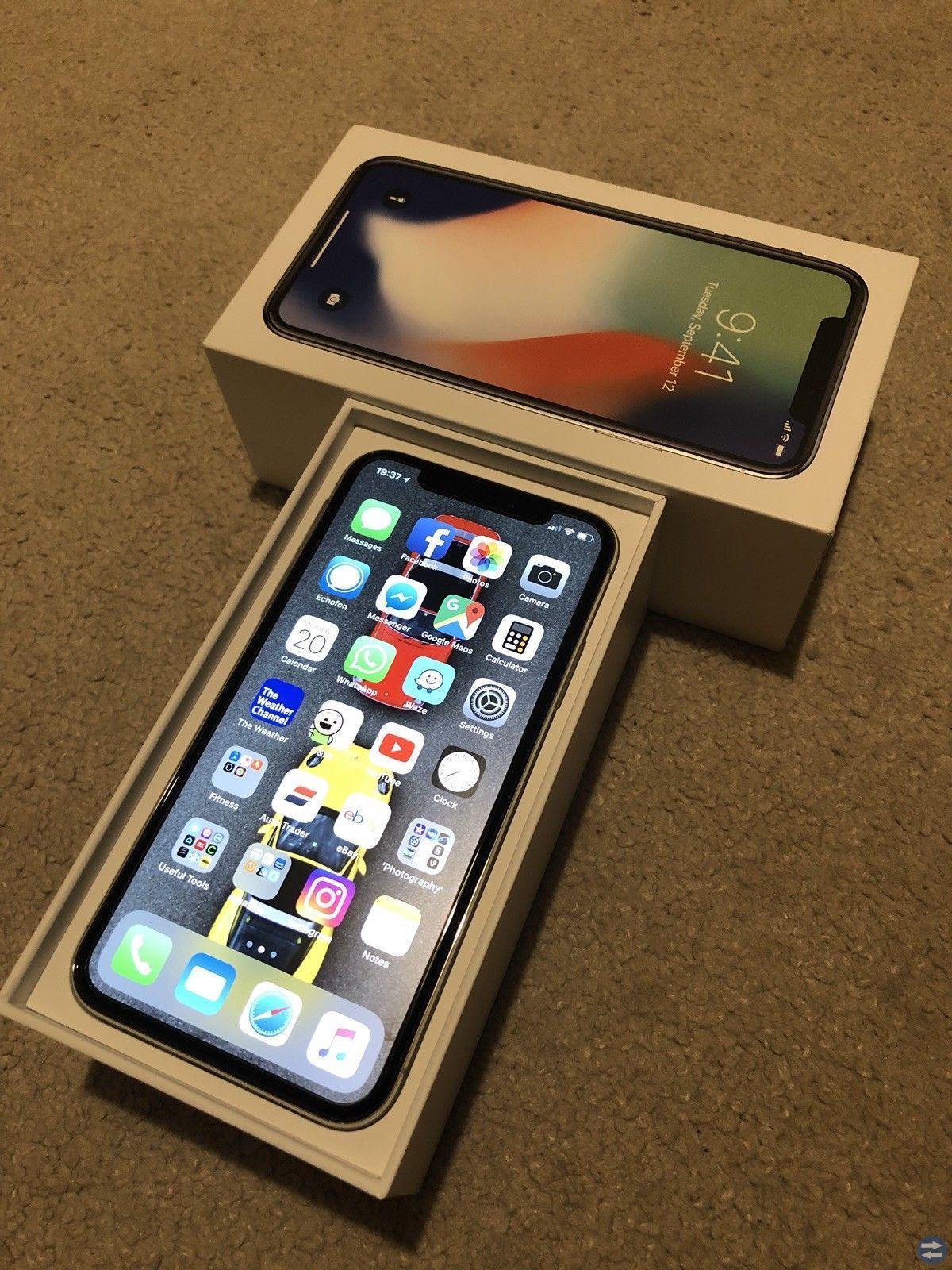 Apple iPhone X 64gb €445 iPhone X 256gb €500