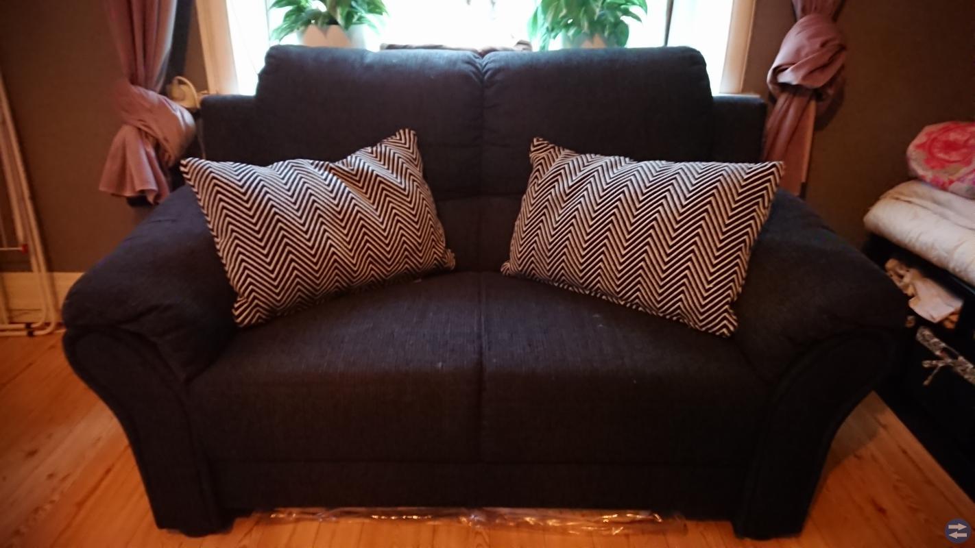Två sits soffa