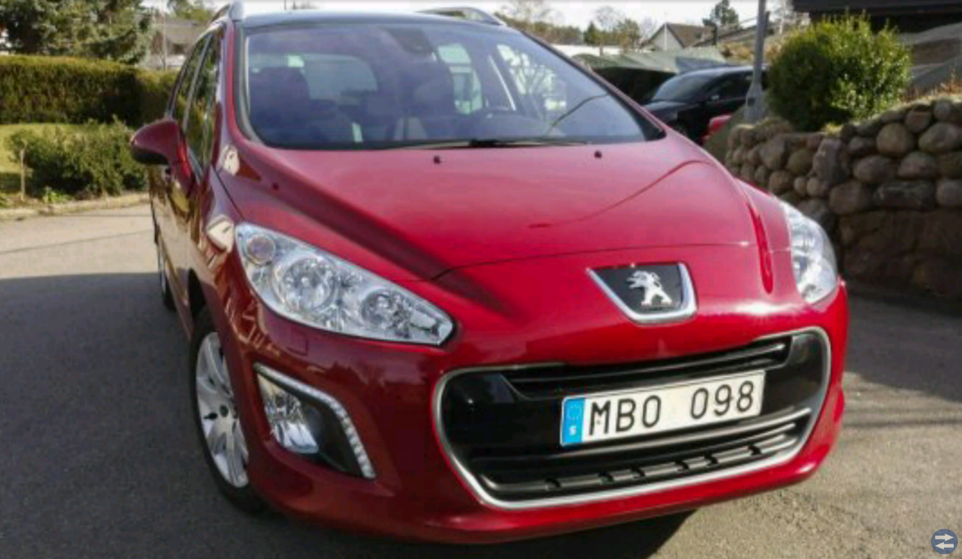 Peugeot 308 1.6 sw e-hdi, 5550mil 2012 Toppskick