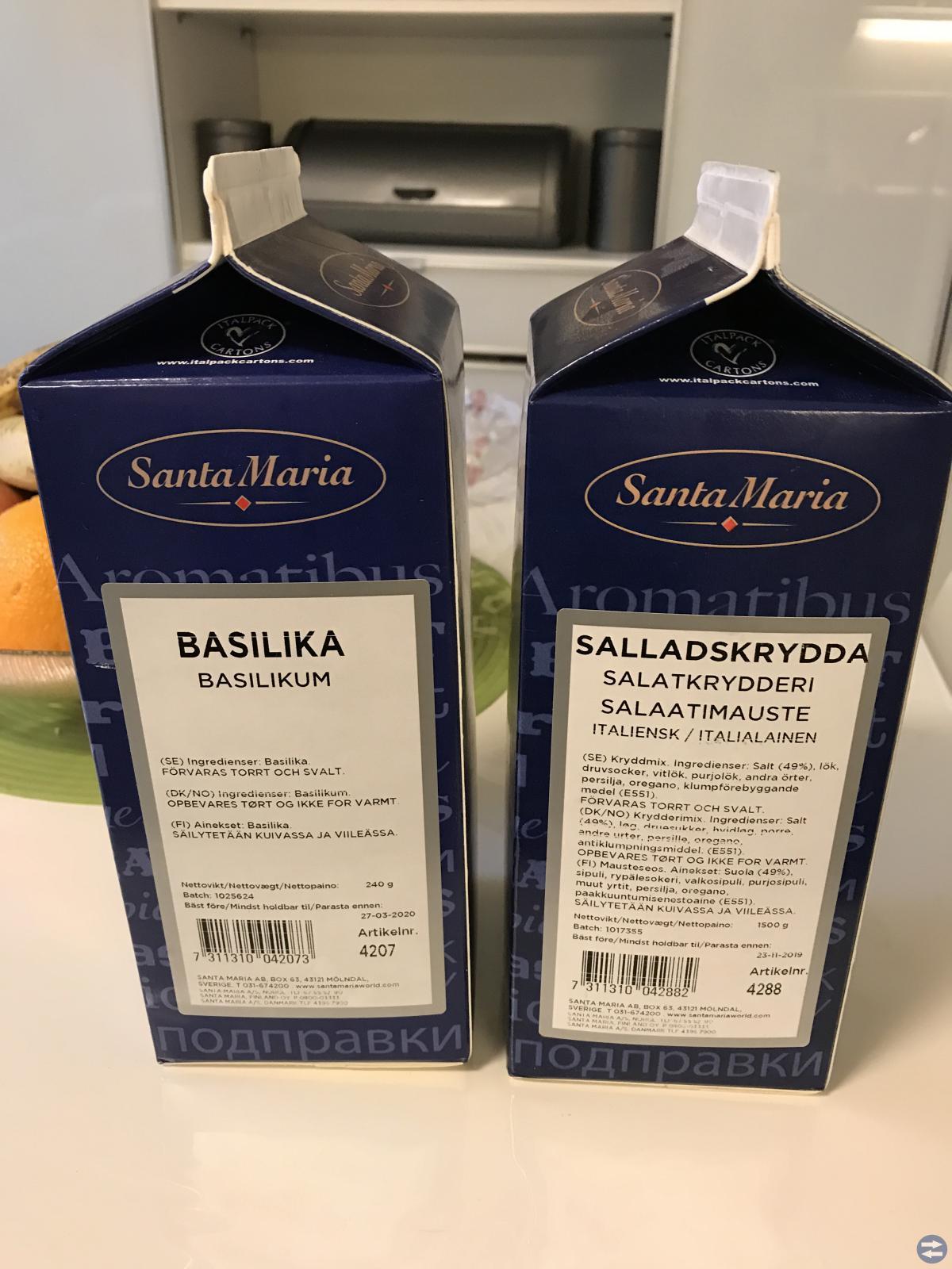 2 pk santa maria kryddor ett salladskryddd o ett b