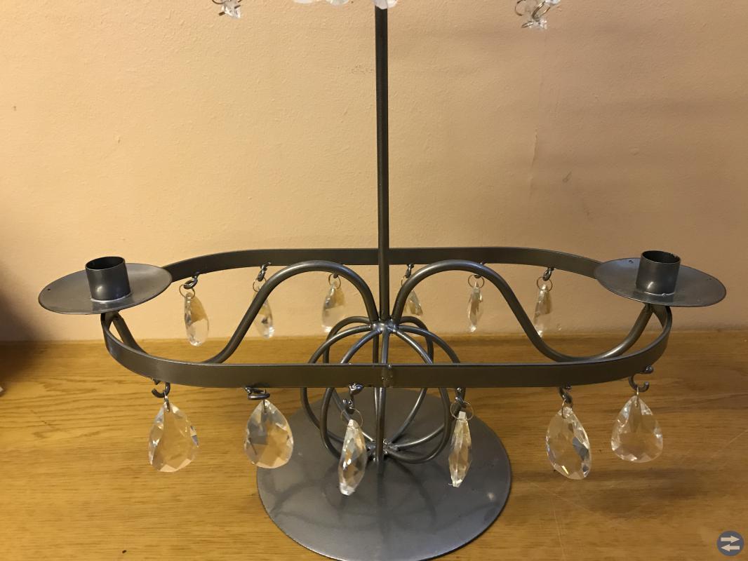 Superfin ny oanvänd bord Ljusstake med prismor