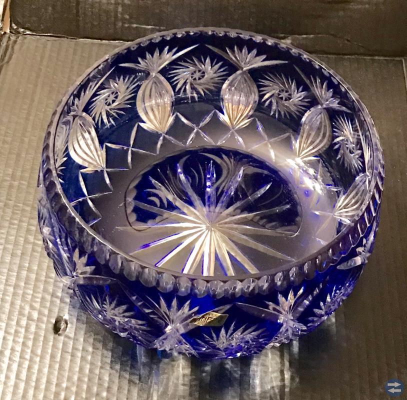 Kristall skål