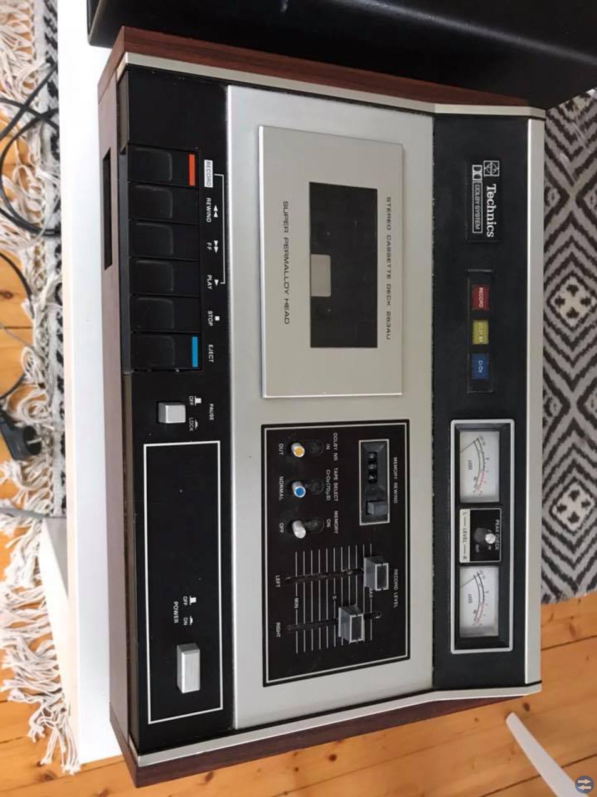 Handic 3030 förstärkare+Technics kasettdäck 70-tal