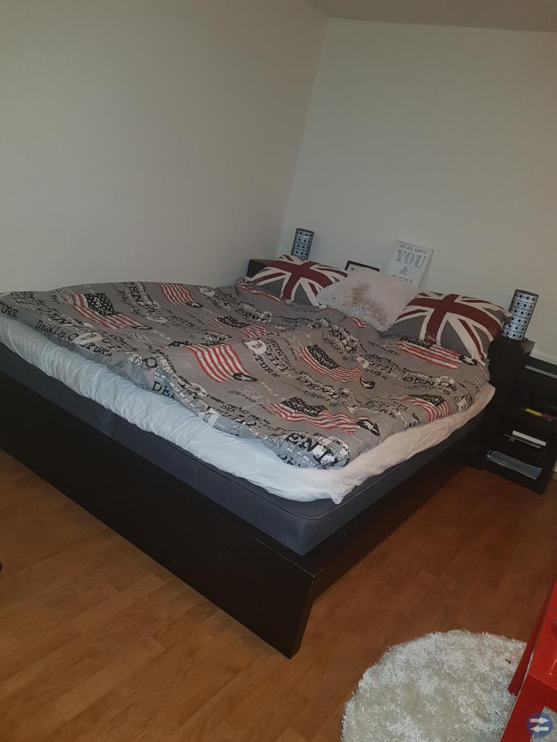 Sängram + sänggavel
