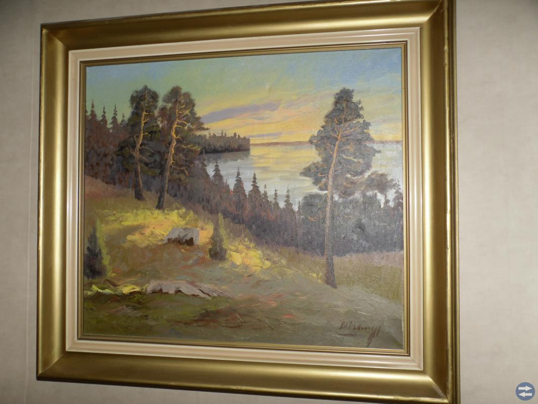 Oljemålning (konstnär E Sigurd Brissmyr)
