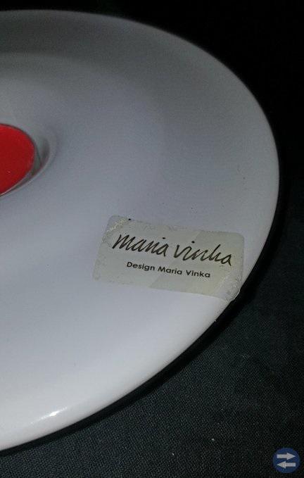 NY! Ljushållare Vitglas design by MARIA VINKA.  Di