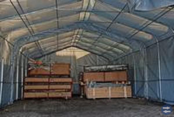 Lagerhall 6,0 x 12,0 x 3,7 m PVC Grå (600 g/m²)