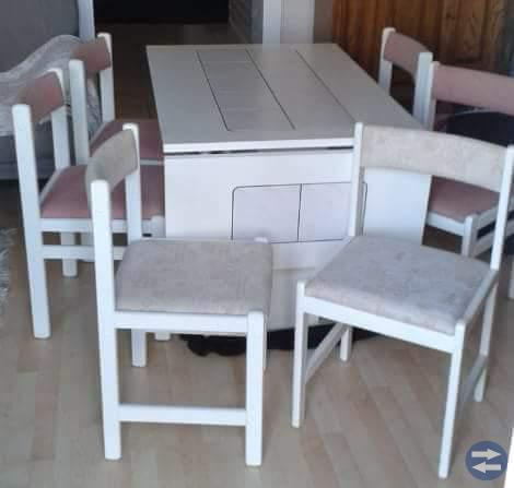 Köks-/mat bord + 6 stolar