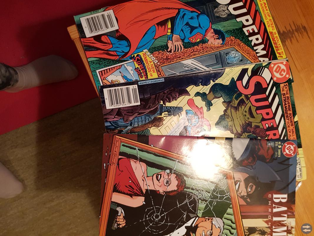 Amerikanska serietidningar säljes