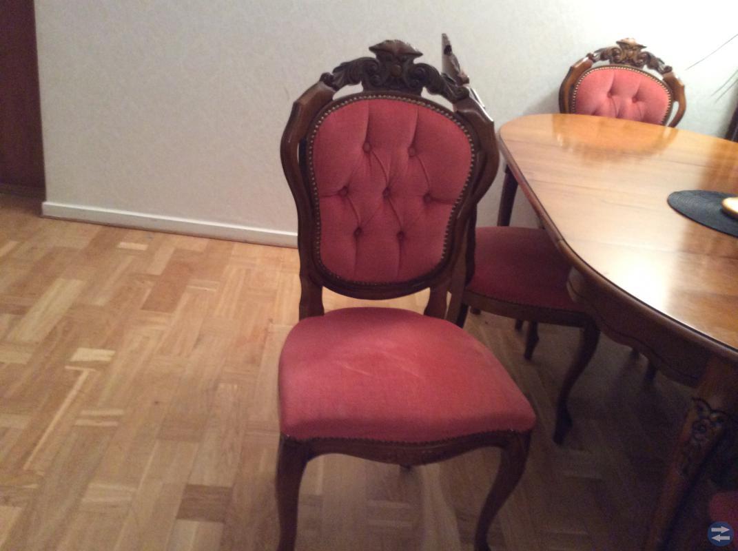 Antik bord ,6st stolar!