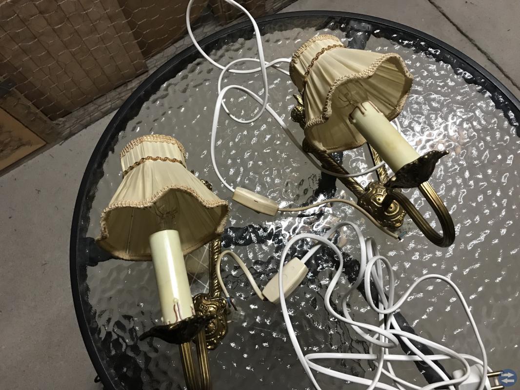 2 st gamla lampetter