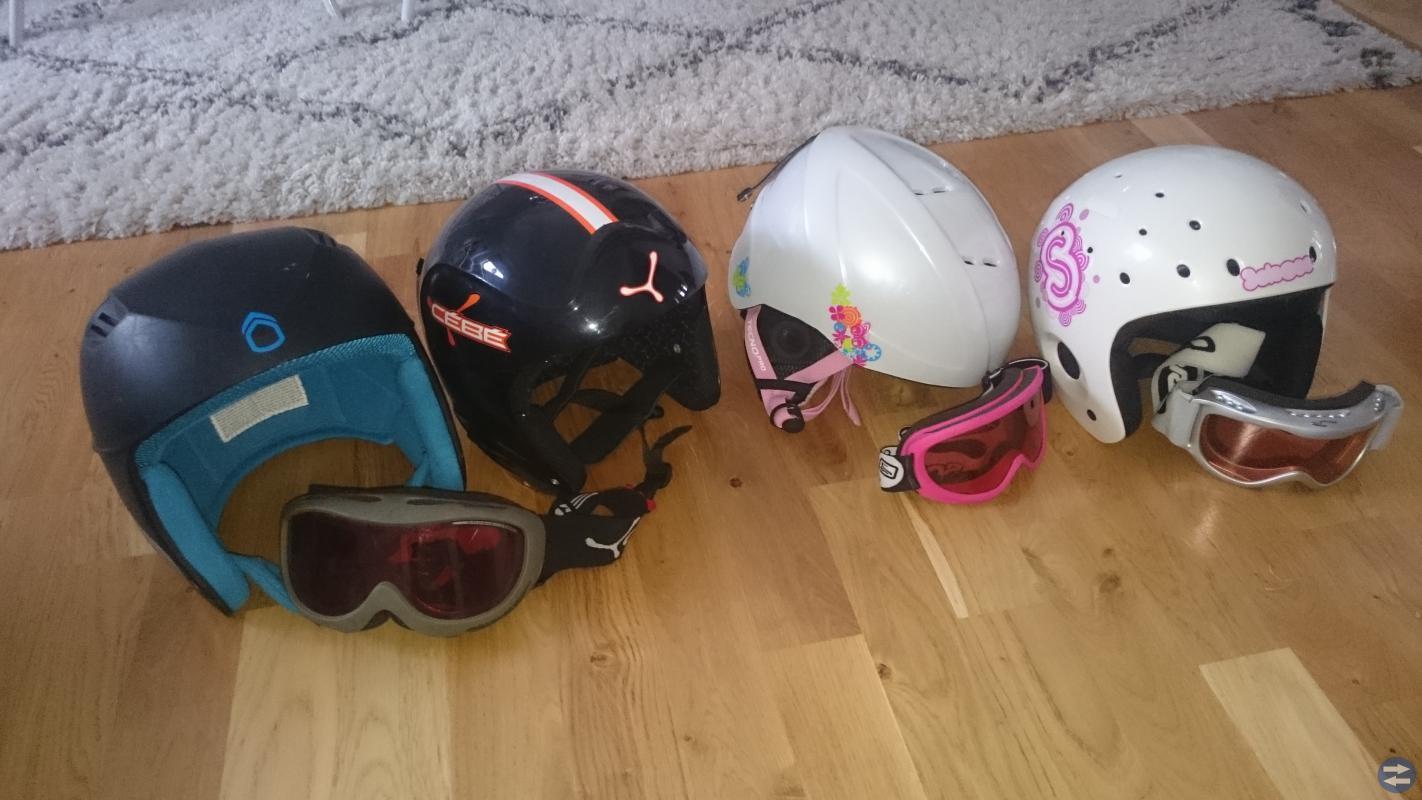 Slalom utrustning pjäxor & hjälmar