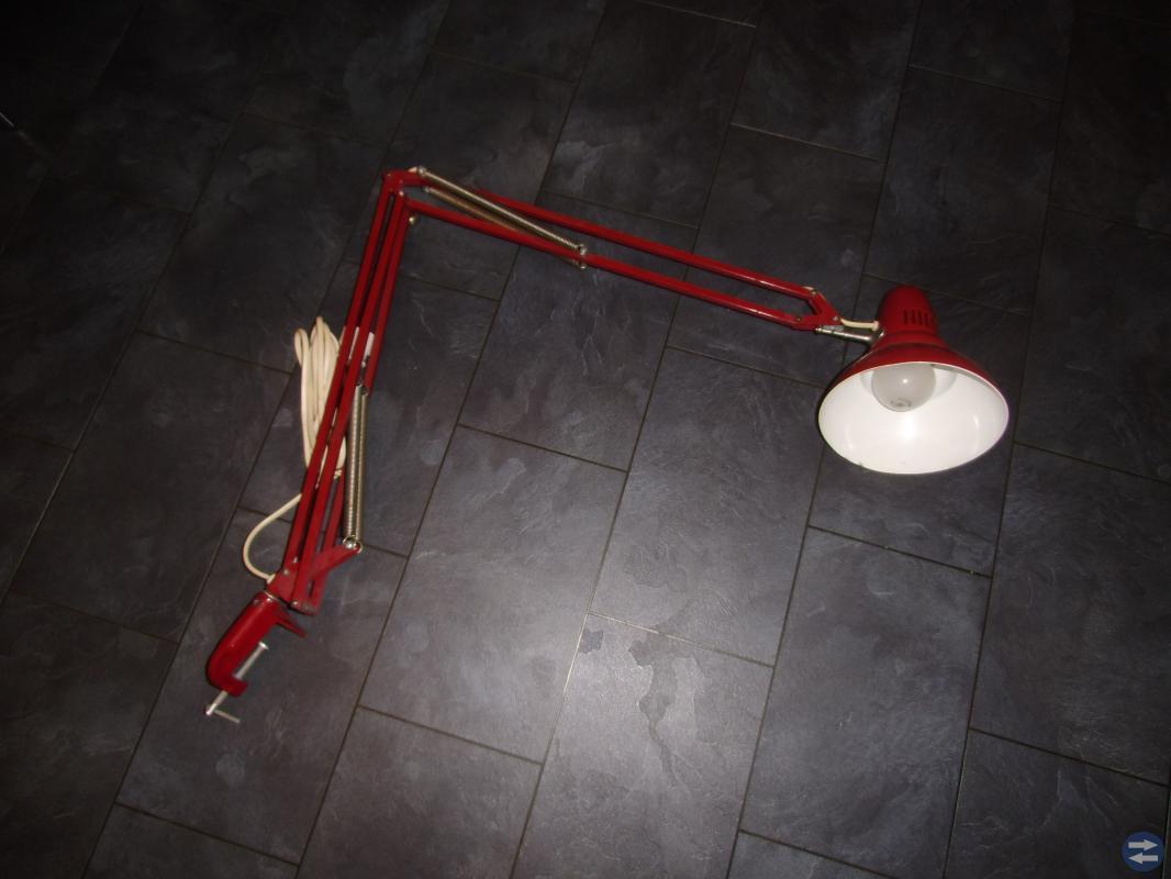 Skrivbordslampa, Industrilampa, retro