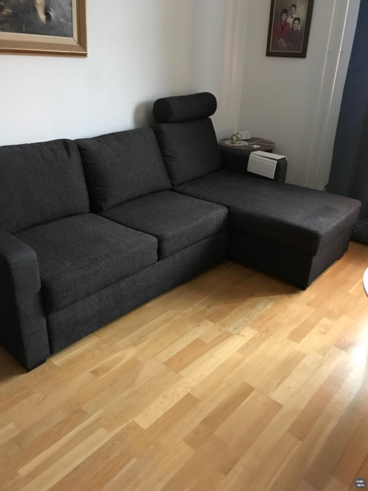3-sitsig bäddsoffa med divan