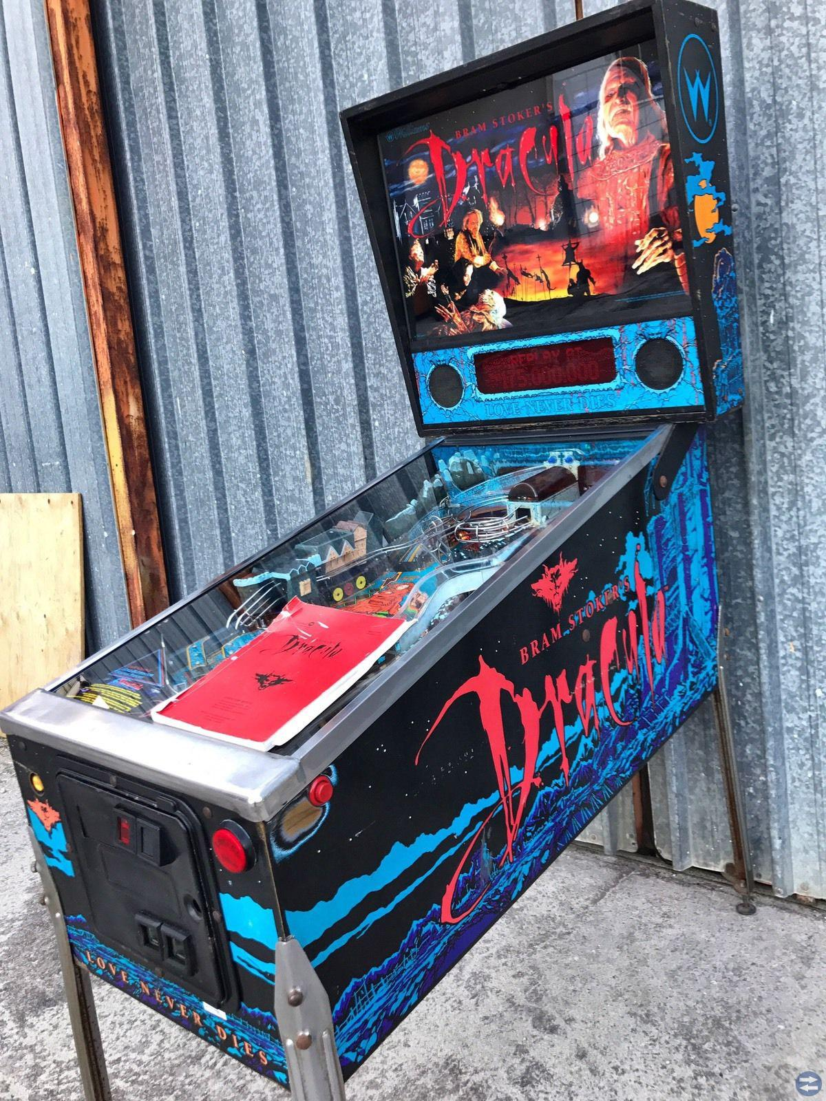 Dracula 1993 Pinball Flipper Williams Bram Stoker'