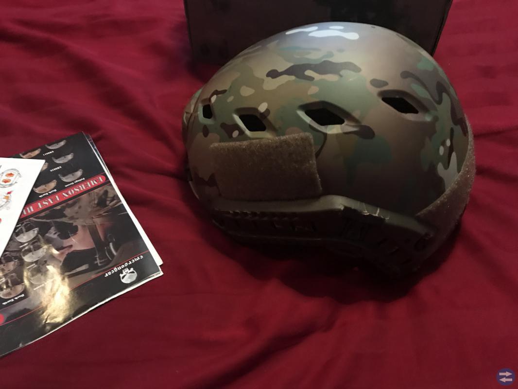 Airsoft Fast Base Jump Helmet Multicamo