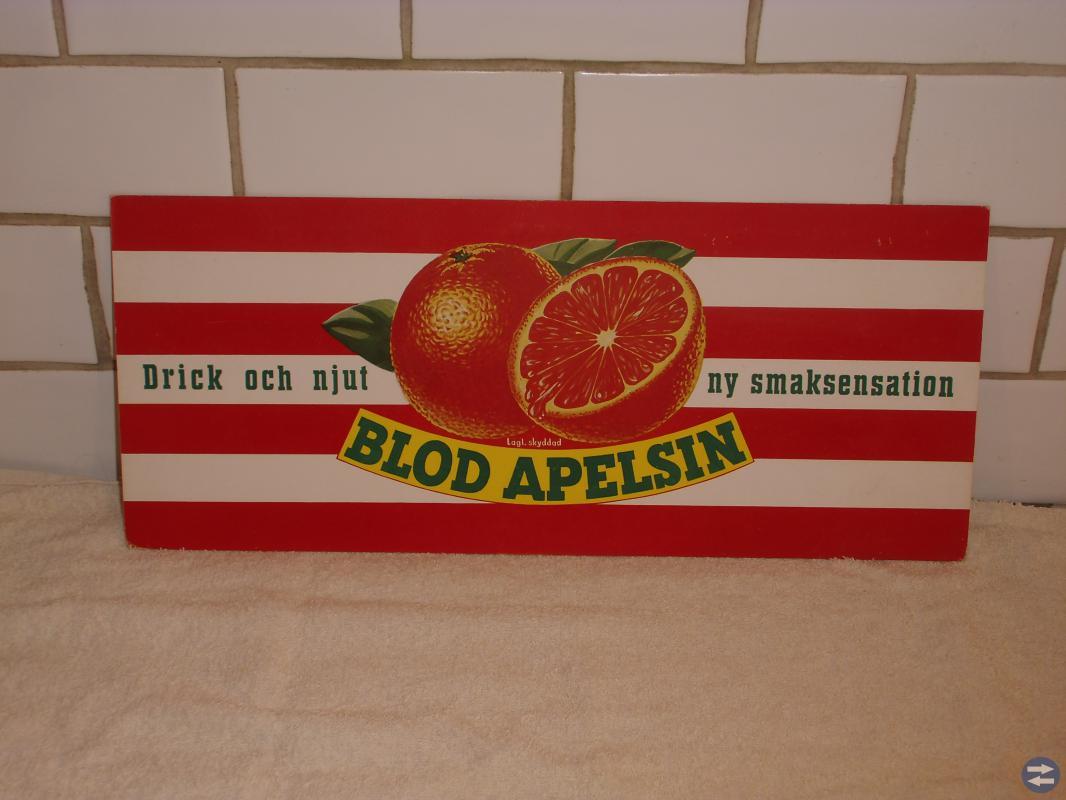 Reklamskylt  Blodapelsin