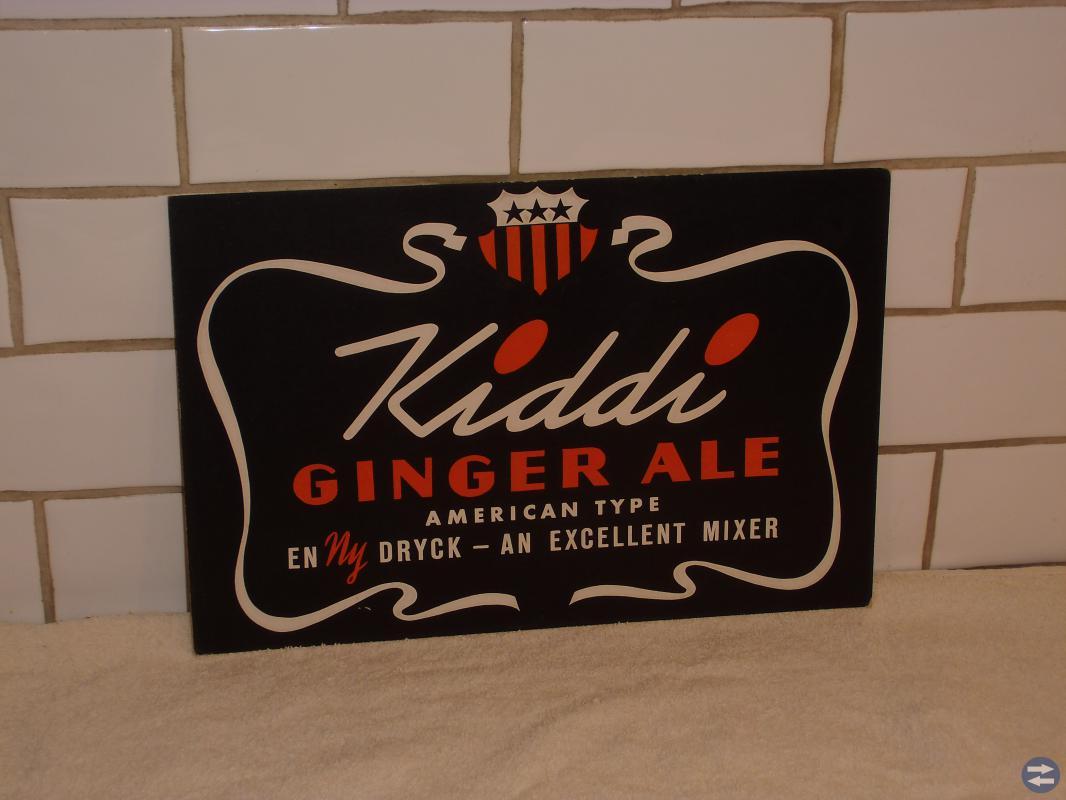 Reklamskylt Kiddi Ginger ale