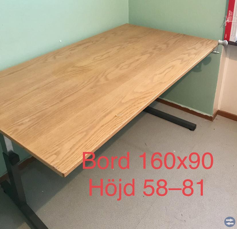 Höj och sänkbart bord