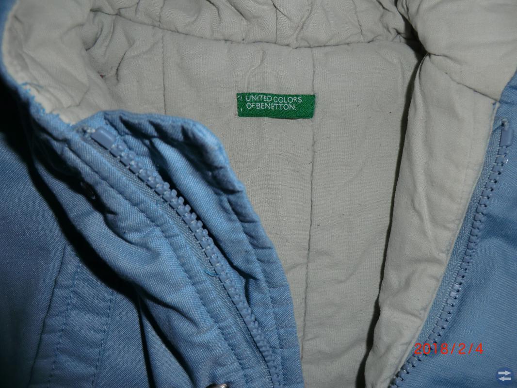 Benetton vadderad jacka stl 82