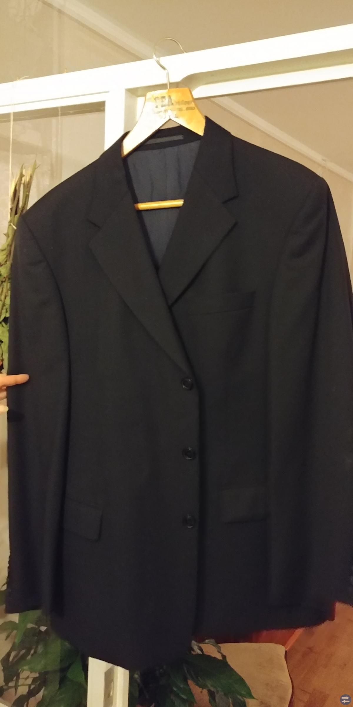 Marinblå Kostym