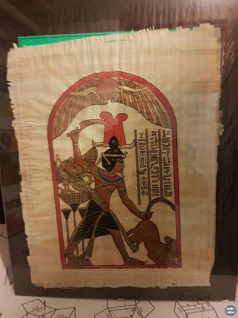 äkta papyrys målningar