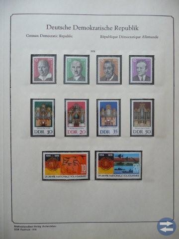 Frimärkssamling ostämplade frimärken Östtyskland