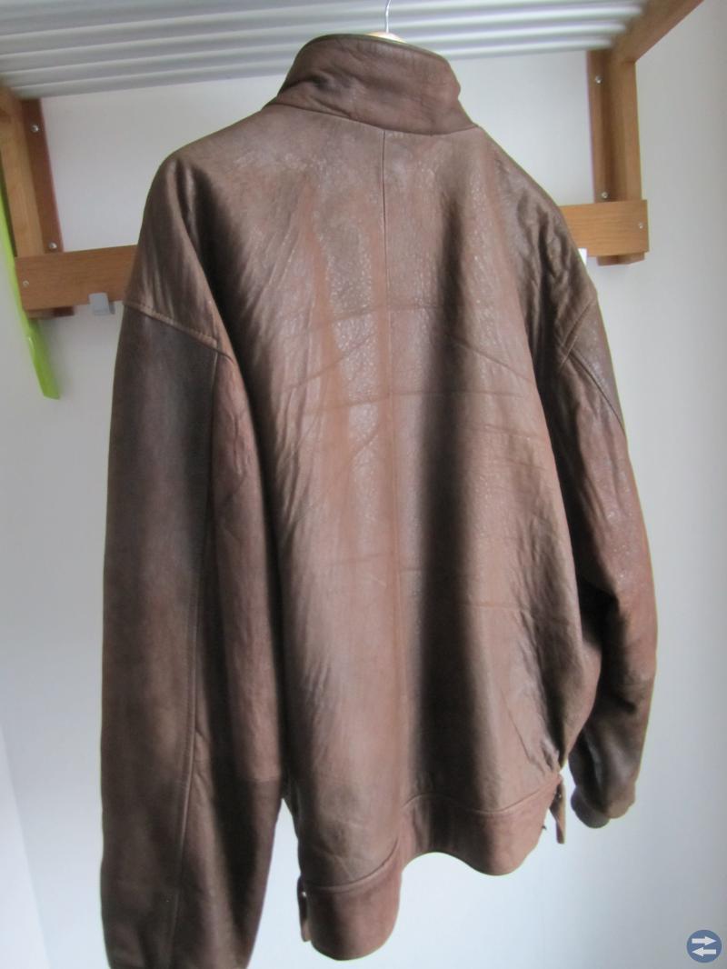 Skinnjacka brun  Herr stl XL