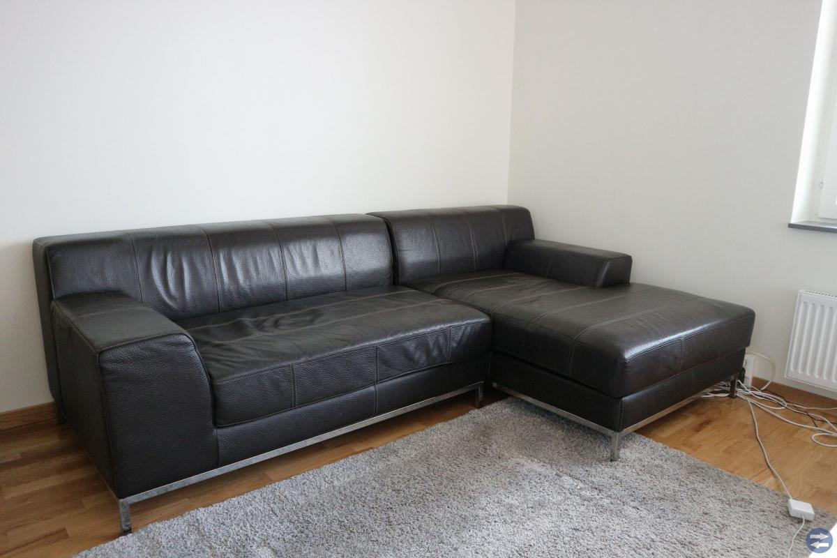 3-sits skinnsoffa med divan