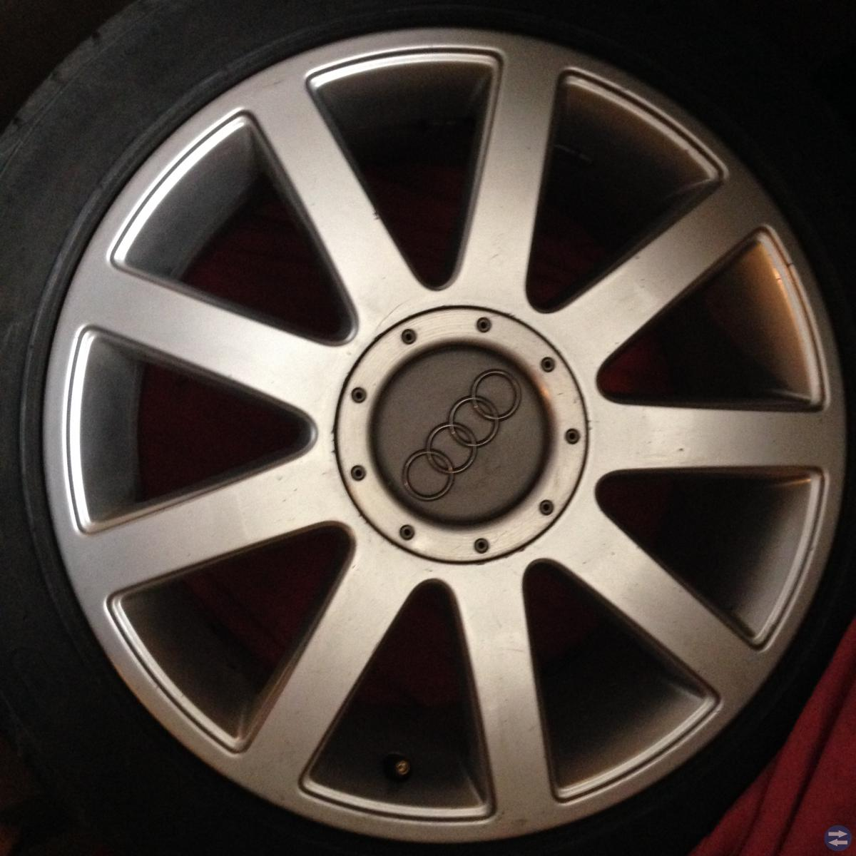 Sommardäck på aluminiumfälg Audi