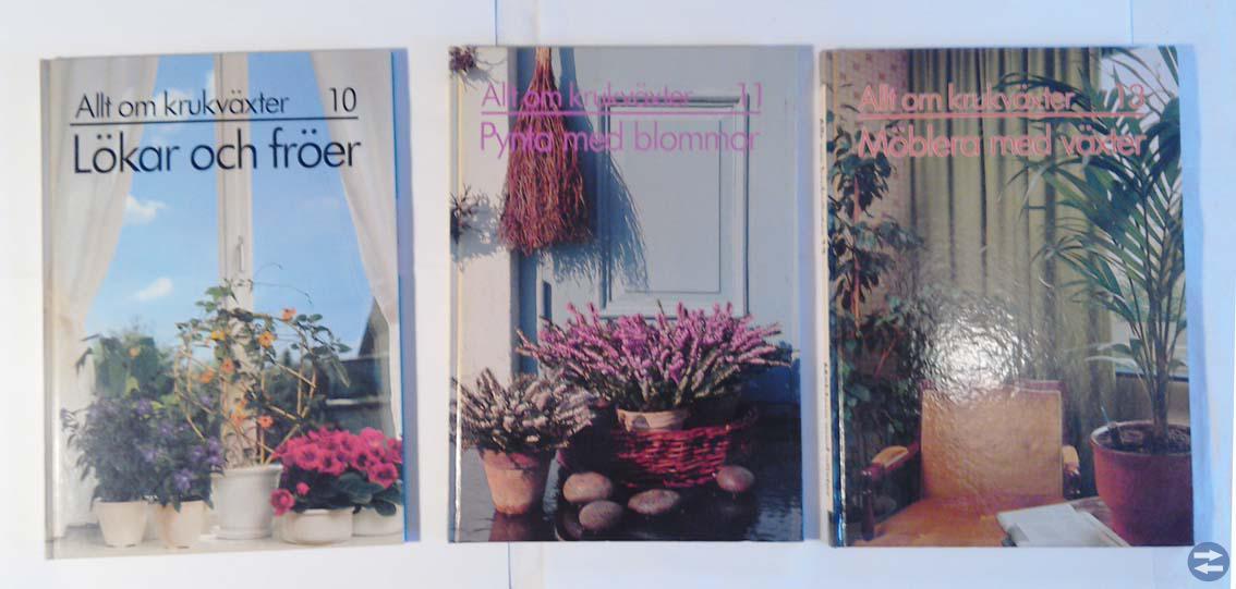 Böcker om krukväxter 11 st.