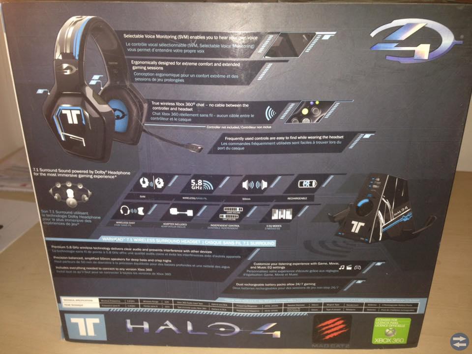 Headset 7.1 Triton Halo4 Edition xbox360