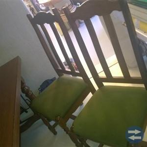 Antikt ek 8 stola från 1920