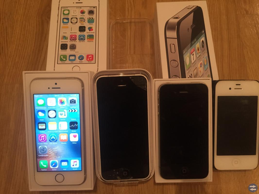IPhones 5s,5c och 4s