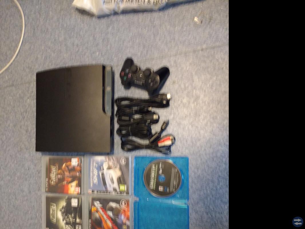 PS3 + 5 Spel